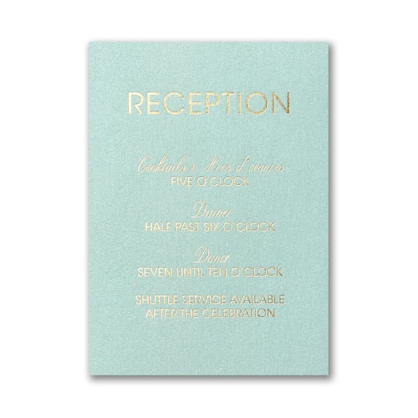 Edged Leaves Reception Card