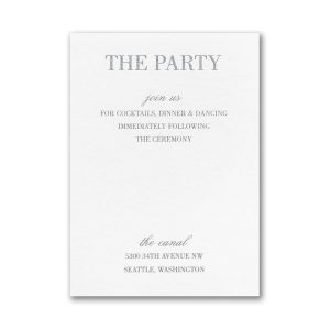 Effortless Love Layered Pocket Reception Card