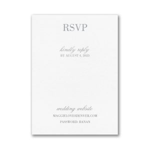 Effortless Love Layered Pocket Response Card