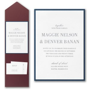 Effortless Love Layered Pocket Wedding Invitation