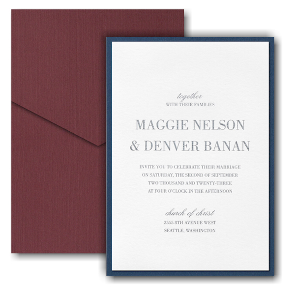 Effortless Love Layered Pocket Wedding Invitation Icon