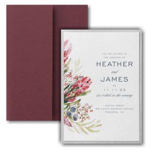 Floral Fondness Layered Pocket Wedding Invitation Icon