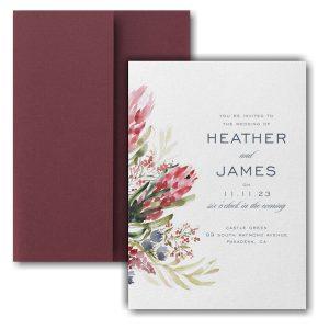 Floral Fondness Pocket Wedding Invitation Icon