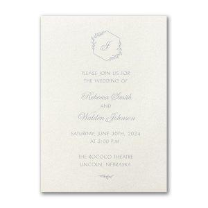 Greenery Monogram Wedding Invitation Icon