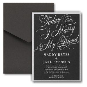 Joined Today Layered Pocket Wedding Invitation Icon