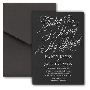 Joined Today Pocket Wedding Invitation Icon
