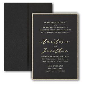 Simple Amour Layered Pocket Wedding Invitation Icon