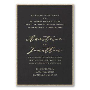 Simple Amour Layered Wedding Invitation Icon