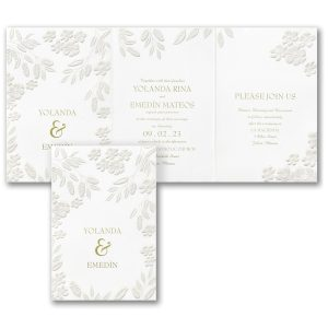 Floral Framework Wedding Invitation