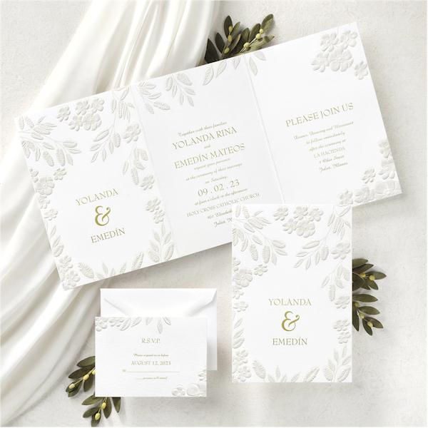Floral Framework Wedding Invitation alt