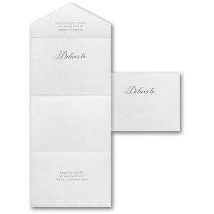Decorative Nuptials Seal 'n Send Wedding Invitation alt