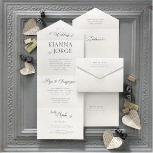 Decorative Nuptials Seal 'n Send Wedding Invitation alt2