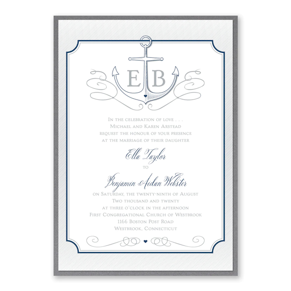 Love Tide Layered Wedding Invitation
