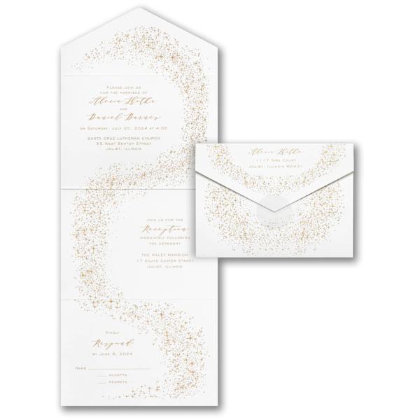 Path of Stardust Seal 'n Send Wedding Invitation