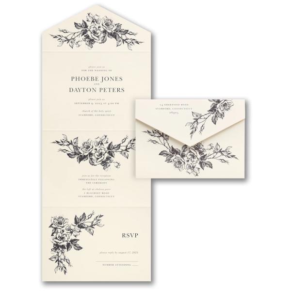 Verdant Love Seal 'n Send Wedding Invitation