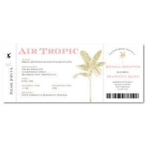 Air Tropic Ticket Wedding Invitation Icon
