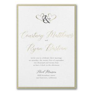 Ampersand Hearts Layered Wedding Invitation Icon