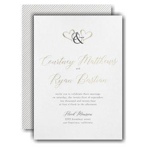 Ampersand Hearts Wedding Invitation Icon