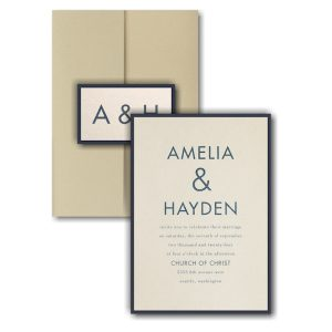 Ampersand Surround Layered Pocket Wedding Invitation Icon