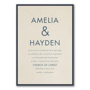 Ampersand Surround Layered Wedding Invitation Icon