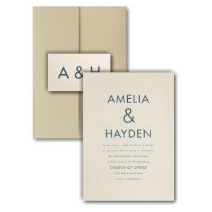 Ampersand Surround Pocket Wedding Invitation Icon
