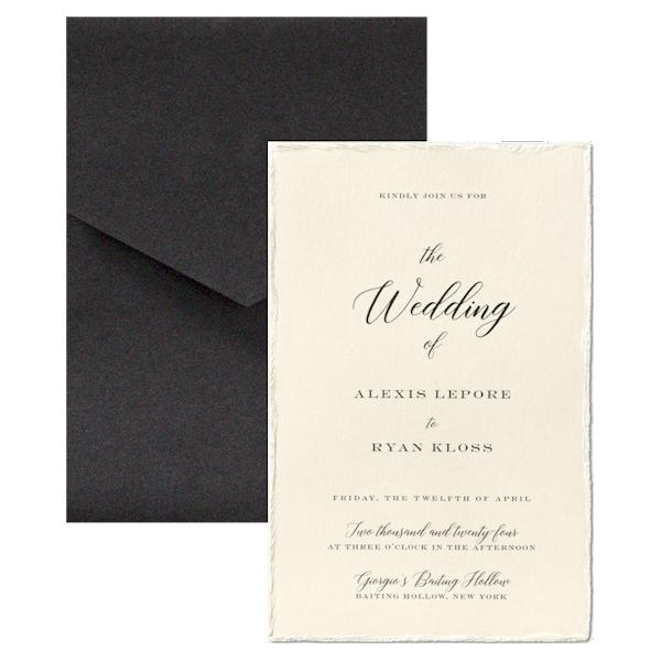 Bedazzled Love in Ecru Wedding Invitation Icon