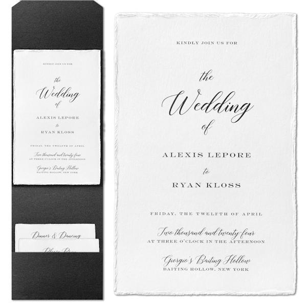 Bedazzled Love in White Invitation