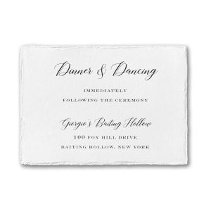 Bedazzled Love in White Reception Card