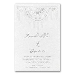 Boho Chic in White Wedding Invitation Icon