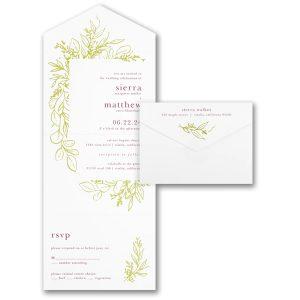 Bordered by Leaves Seal 'n Send Wedding Invitation Icon