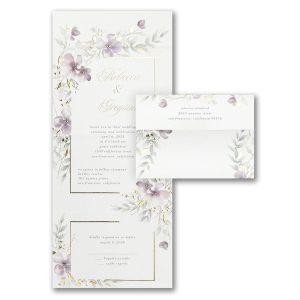 Cascading Blooms Seal 'n Send Wedding Invitation Icon