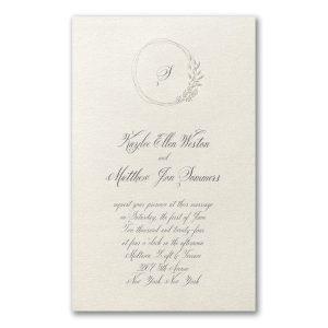 Charming Frame in Ecru Wedding Invitation Icon