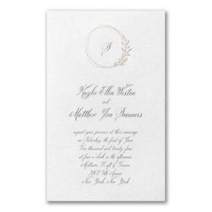 Charming Frame in White Wedding Invitation Icon