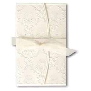 Cherished Love in White with Ecru Wrap Wedding Invitation Icon