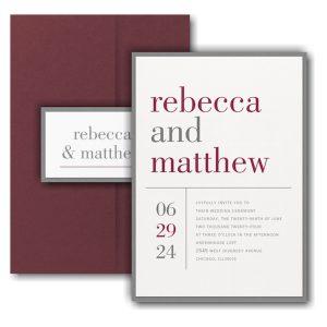 Contemporary Layout Layered Pocket Wedding Invitation Icon