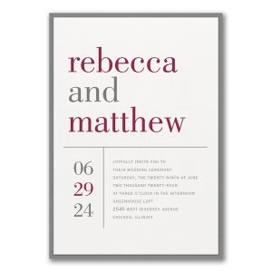 Contemporary Layout Layered Wedding Invitation Icon