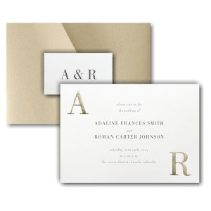 Corner Initials Pocket Wedding Invitation Icon