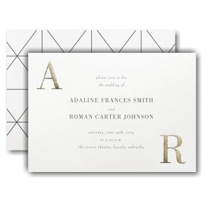 Corner Initials Wedding Invitation Icon