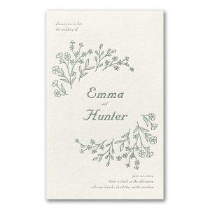 Dainty Flowers in Ecru Wedding Invitation Icon