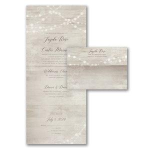 Dangling Lights Seal 'n Send Wedding Invitation Icon