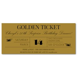 Golden Ticket Wedding Invitation Icon