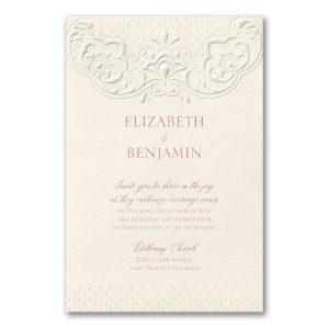 Lacy Flourish in Ecru Wedding Invitation Icon