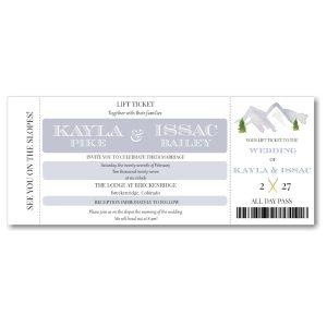Lift Ticket Wedding Invitation Icon