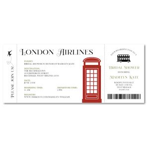 London Air Ticket Wedding Invitation Icon
