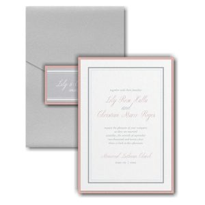 Multi Line Border Layered Pocket Wedding Invitation Icon