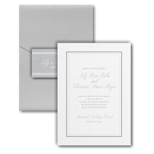 Multi Line Border Pocket Wedding Invitation Icon