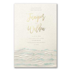 Ocean Inspo in Ecru Wedding Invitation Icon