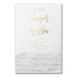 Ocean Inspo in White Wedding Invitation Icon