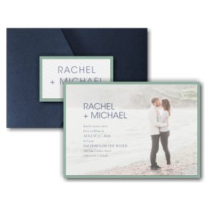 Simple Portrait Layered Pocket Wedding Invitation Icon