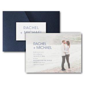 Simple Portrait Pocket Wedding Invitation Icon